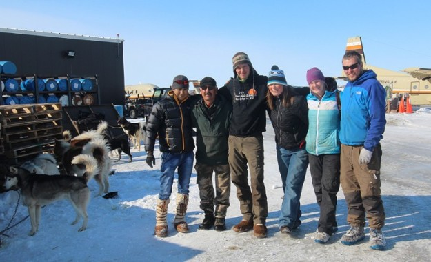 Team Racing Beringia. From left to right: Timofei, Chuck, Joar, Miriam, Yvonne and Kenneth