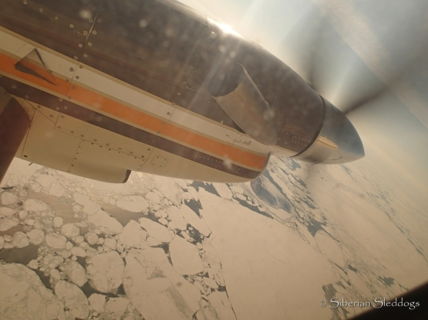Flying arcoss the Bering Strait. Chukotka is so close to Alaska, yet so far away. Flight time: 1,5h